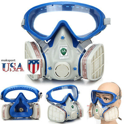 US Full Face Respirator Mask Double Filter Air Protect Breath masks Chemical Gas