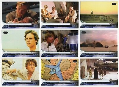 2013 TOPPS STAR WARS JEDI LEGACY Complete 90 Trading Card Base Set