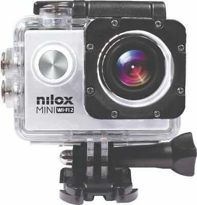 "Nilox Action Cam 4K Ultra HD 20 Mpx CMOS Display 2"" microSD Silver Mini Wi-fi 2"