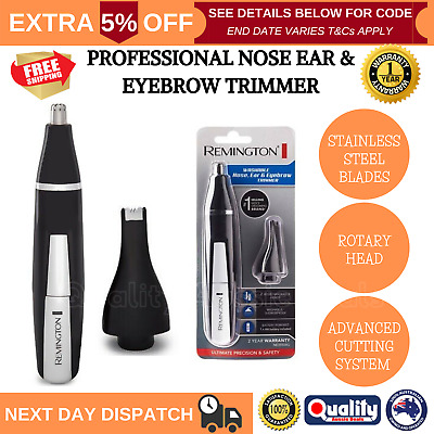 REMINGTON Nose Ear Hair Shaver Trimmer Portable Washable Cordless Mens Grooming
