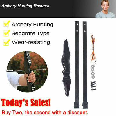"""54"""" 40 lb Archery Takedown Recurve Compound Bow Longbow Right Hand Hunting"""