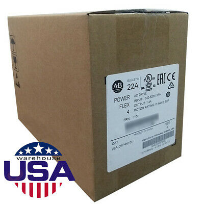USA Stock Allen-Bradley 22A-D1P4N104 PowerFlex4,RS485 3PH,480V AC Drive Warranty