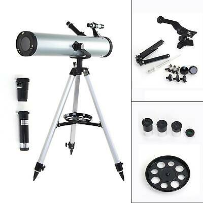 Performance 76 x 700 Reflector Astronomy Telescope Adjustable Tripod Lens Gift