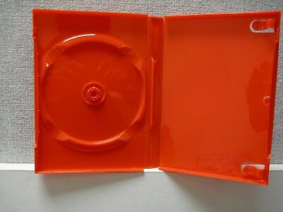 10 Red Empty Single DVD Cases with DVD Slot BluRay CD 20mm Spine