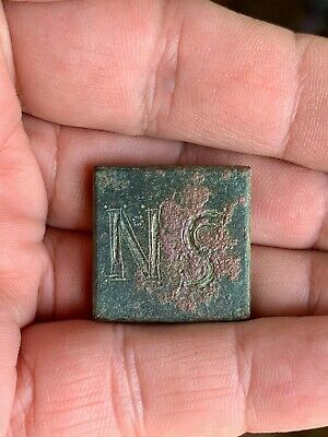 Byzantine bronze weight of 6 nomismata (solidi) (5th-6th cent). A nice piece!