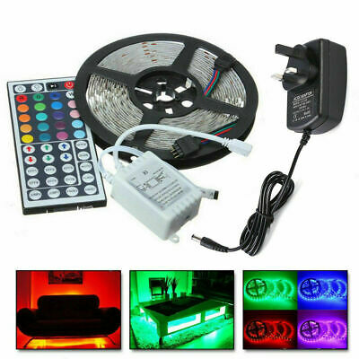 5050 Rgb Led Strip Lights Colour Changing Tape Under Cabinet Kitchen Ip65 Bright