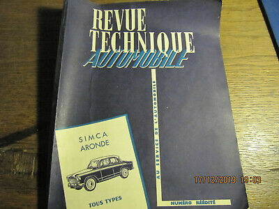 Revue techinique automobile SIMCA ARONDE 1962