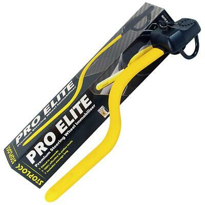 Stoplock 'Pro Elite' - Steering Wheel Lock For Cars - 1 Unit, Black/Yellow