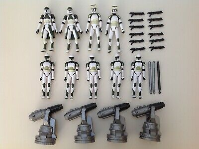 Hasbro Star Wars Clone Wars 3.75 Green Trooper Anti Hailfire Loose Lot