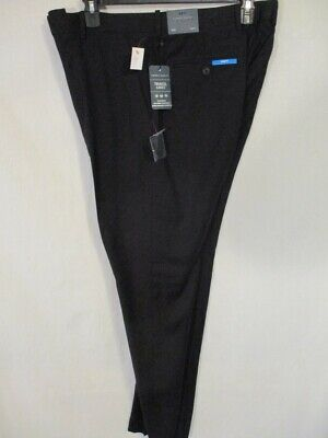 Perry Ellis Polyester 36 x 36 Black Travel Luxe Flat Slim FIt  Pants SR$70 NEW