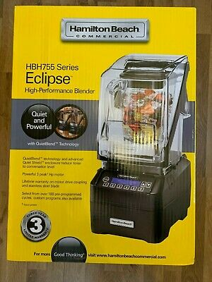 @ BRAND NEW Hamilton Beach Commercial ECLIPSE Blender HBH755 Quiet and Powerful@