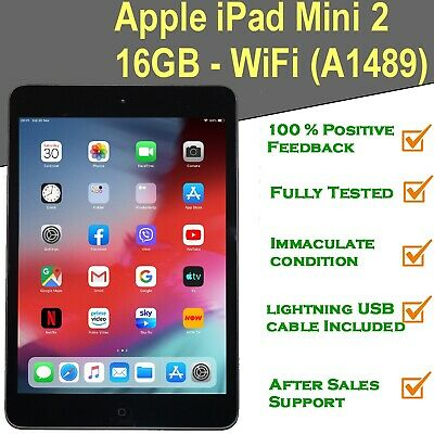 Apple iPad Mini 2 16GB Wi-Fi 7.9in Space Grey Retina Display & iPad 2, i Pad 2