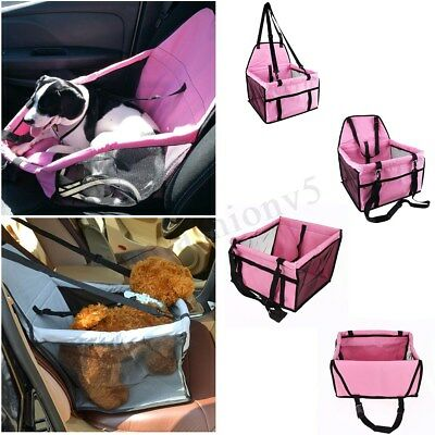 Foldable Pet Car Seat Cover Safe Booster Basket Protector Dog Travel Carrier