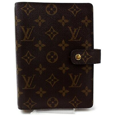 Authentic Louis Vuitton Diary Cover Agenda MM Browns Monogram 1112901