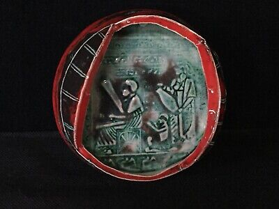 Rare Ancient Egyptian Glazed Heiroglyphics Pottery - Marked - Take A L@@K