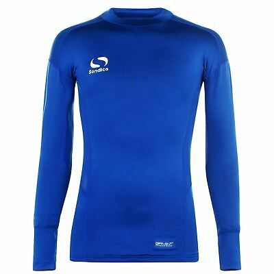 Sondico Mock Neck Baselayer Shirt Mens Royal Football Soccer Compression Top