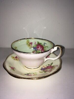 1960's antique cup and saucer by Foley 2118