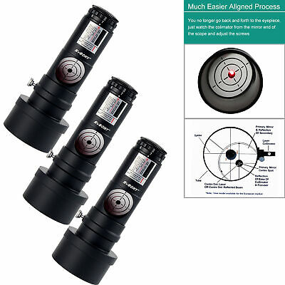 """3x 1.25"""" Red Laser Collimator 7 Bright Level for Reflector Telescope SVBONY US"""