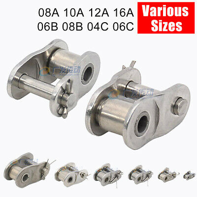 Simplex Roller Chain Crank Links Bushing Chains Stainless Steel 04C 06B 08B 16A