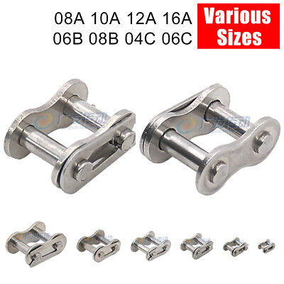 Simplex Roller Chain Crank Links Bushing Chains Stainless Steel Various Sizes
