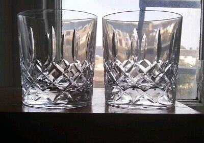 Large Pair Of glass Cut Crystal Tumblers
