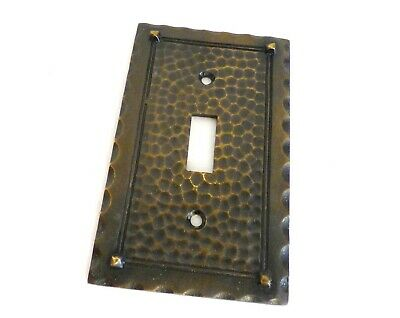 Arts & Crafts / Mission Brass Light Switch plate cover - Industrial Salvage
