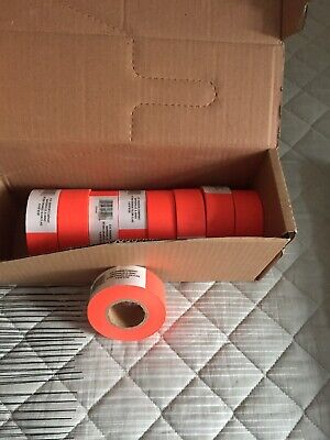 Flagging Tape Non-Adhesive 9 Rolls Orange 1 3/16in X 150ft
