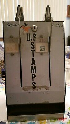 USPS Model S70-2A Postage Stamp Coin Operated 25 Cent Vending Machine RARE Vntg