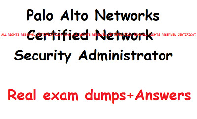 Palo Alto Networks Certified Network Security Administrator PCNSA exam Q&A dumps