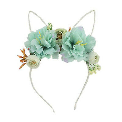 Rose Flower Hair Women Girls Headband Simulation Decor Rabbit Bunny Ears Lin
