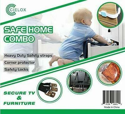 Safe Home Child Baby Proofing Kit Secure TV Furniture Straps Locks FAST SHIP G74