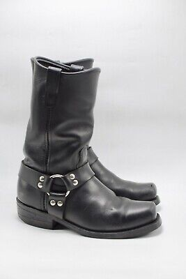 Double-H Sierra Black Domestic Harness Motorcycle Boots 4008 Mens Sz 9 EE USA