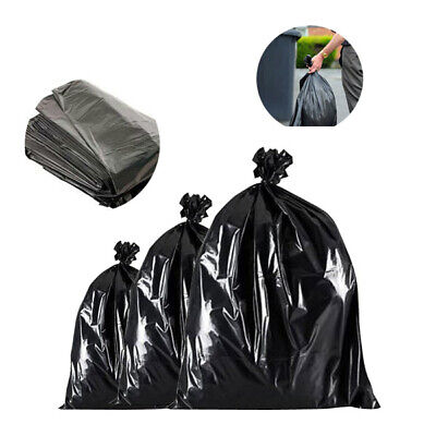 Large Black Bin Liners Refuse Bags Sacks Waste Rubbish Cleaning Removal All QTYs