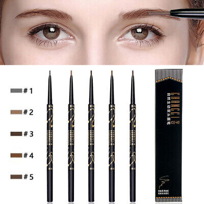 Black Double Ended Tint Long Lasting Makeup Eyebrow Pencil Tattoo Cosmetic