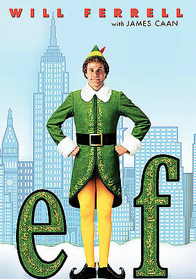 Elf, DVD, 2004 Will Ferrell, James Caan Infini film NEW Factory SEALED FREE SHIP