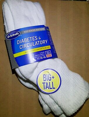 Dr. Scholls Big&Tall Mens 2 Pack Diabetic and Circulatory  ankle sock Shoe 13-15