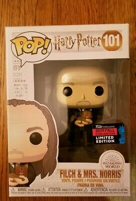 Funko Pop Harry Potter Argus Filch w/ Mrs Norris NYCC 2019 Shared Exclusive Mint