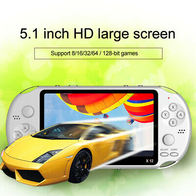 X12 5.1'' 8GB Handheld PSP Video Game Console Player Builtin 10000 Game Portable