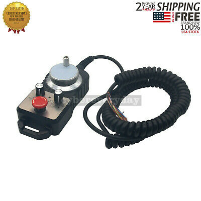 CNC 4 Axis MPG Pendant Handwheel & Emergency Stop for Siemens FAGOR GSK USA Ship