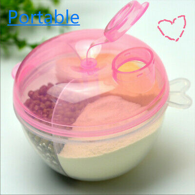 Portable Baby Infant Travel Milk Powder Formula Dispenser Container Feeding Box