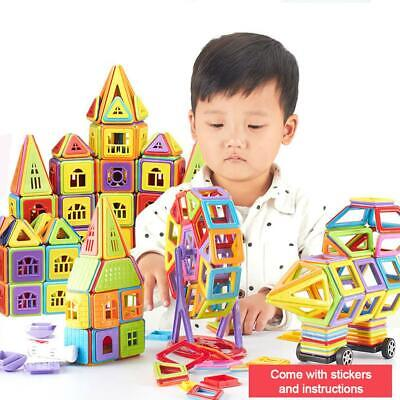 160X Magnetic Blocks Tiles Set DIY Building Kids Educational Magic Toy Xmas Gift