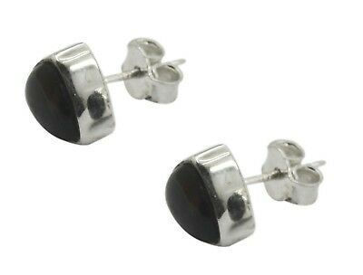 comely Smoky Quartz 925 Sterling Silver Brown Earring indian CA gift