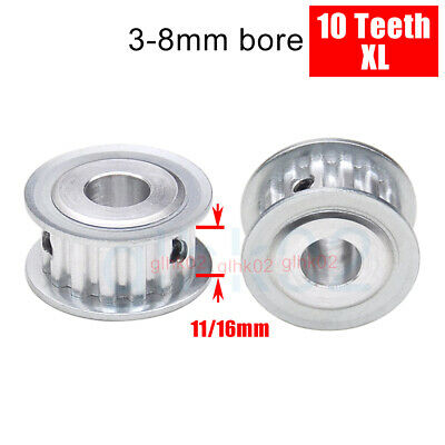 XL 10 Teeth Timing Belt Pulley 11mm Wide 3-8mm Bore Aluminum Synchronous Wheel