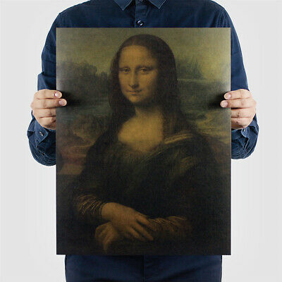 Home Decor Kraft Paper Leonardo Da Vinci Vitruvian Man Antique Poster Mona Lisa