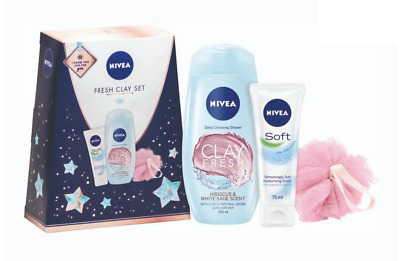 Womens Nivea Fresh Clay Beauty Skin cleansing Valentine's Gift Set For Her ❤❤❤