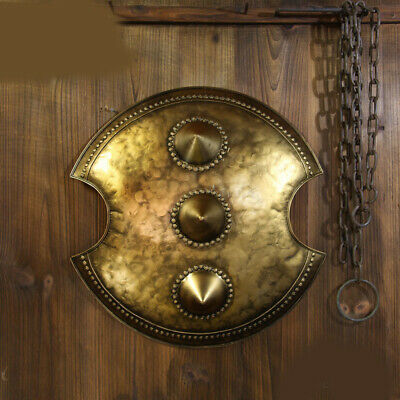 D27 Europe Retro Medieval Shield Antique Knight Armour Wall Home Decor Full Size