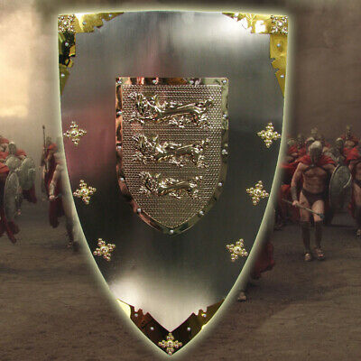 D37 Europe Retro Medieval Shield Antique Knight Armour Wall Home Decor Full Size