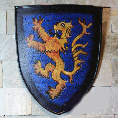 D12 Europe Retro Medieval Shield Antique Knight Armour Wall Home Decor Full Size