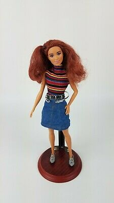 Mattel 2015 Fashionista Hispanic African American Barbie Doll Red Hair + Outfit
