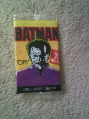 Vintage 1989 TOPPS BATMAN 1# HIT MOVIE 1st Series Cards, Gum Included in Packet